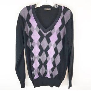 🍁Zara Man V Neck Diamond Print Sweater